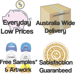 PromoMate Everyday Low Prices, Australia wide Delivery, Satisfaction guaranteed free samples and artwork